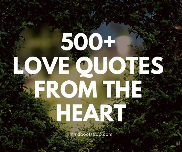 500+ Love Quotes From The Heart To Say