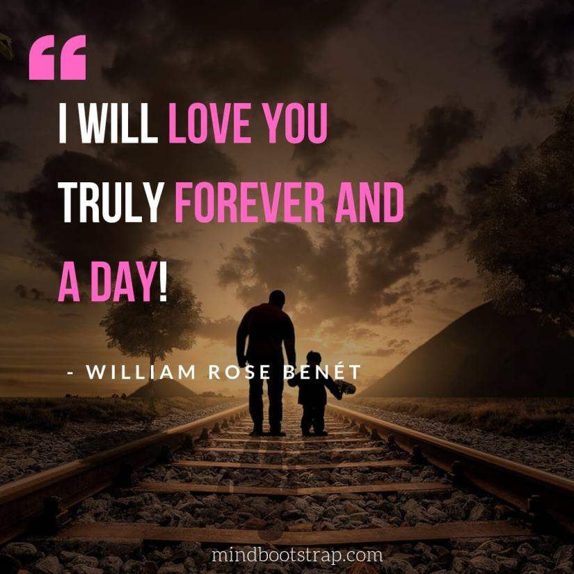 Sweet, Cute and Short I Love You Quotes & Sayings - I will love you truly forever and a day   MindBootstrap.com