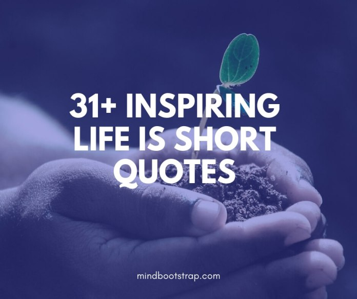 best life is short quotes