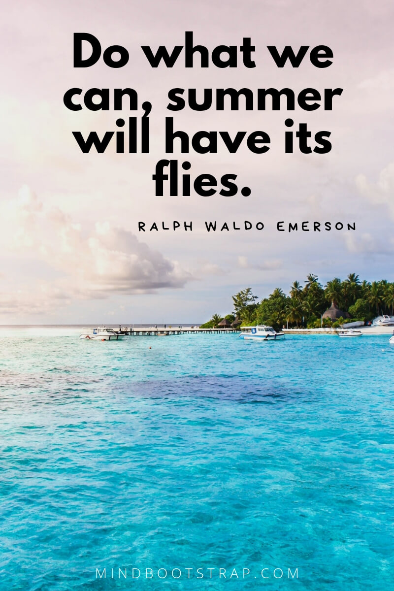 Summer quotes Do what we can, summer will have its flies. ~Ralph Waldo Emerson