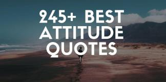 best attitude quotes and sayings