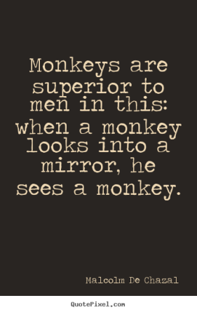 Image result for monkey man quotes