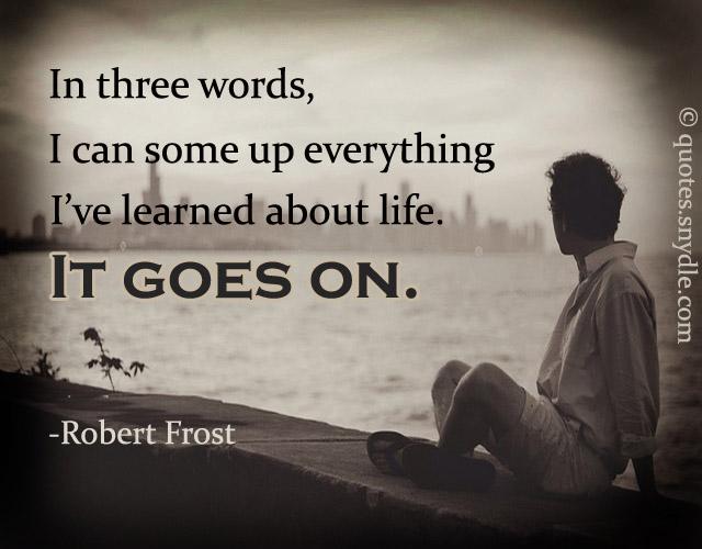 ponekad dobijaš, ponekad gubiš ali nastavi da živiš