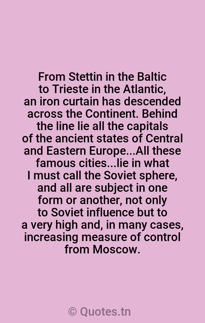 from stettin in the baltic to trieste