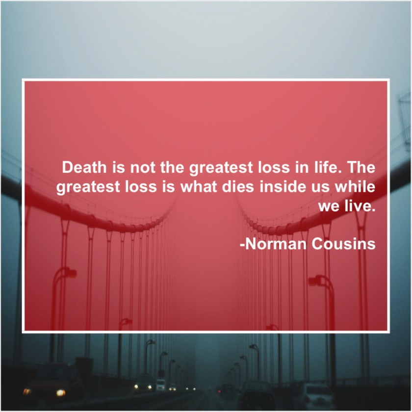 Norman Cousins – Death is not the greatest… – Quote Pals