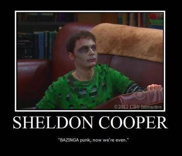 Best sheldon cooper bazinga meme