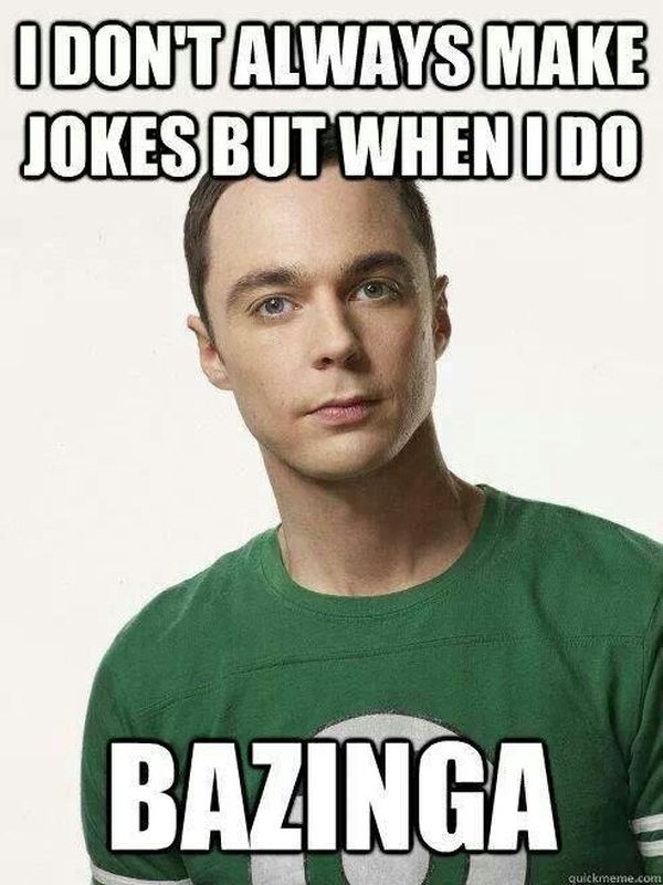 Cool bazinga jokes meme