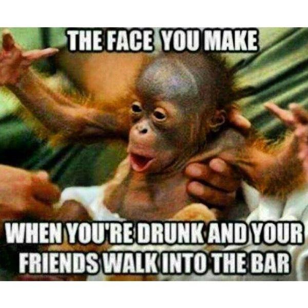 Funny drunk face meme Image