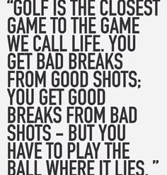 Golf And Life Quotes Inspiration 20 Golf And Life Quotes Saying Images & Photos  Quotesbae