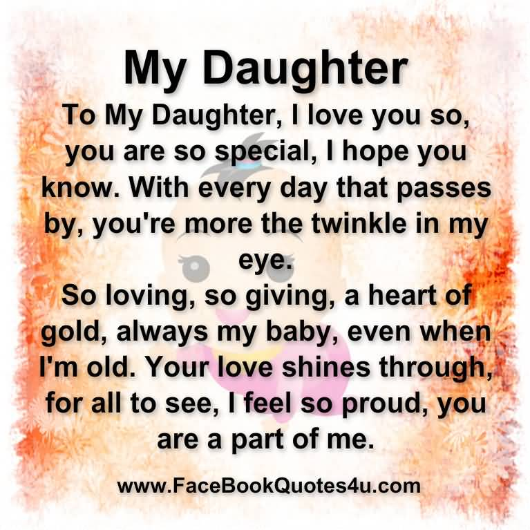 I Love My Daughter Quotes And Sayings Entrancing I Love My Daughter Quotes And Sayings 04  Quotesbae