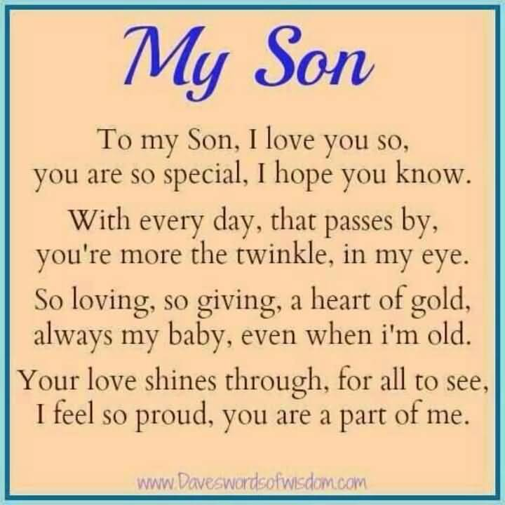 I Love My Son Quotes And Sayings Brilliant I Love My Son Quotes And Sayings 05  Quotesbae