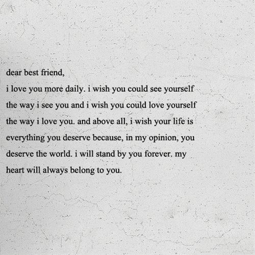 I Love You Bestfriend Quotes Cool 20 I Love You Bestfriend Quotes For Your Close Friend  Quotesbae