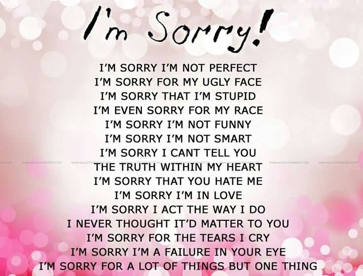 I M Sorry Love Quotes For Her Interesting 20 I M Sorry Love Quotes For Her With Deep Meaning  Quotesbae