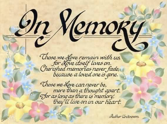 Memories Of A Loved One Quotes Amusing 20 In Memory Of A Loved One Quotes Images & Photos  Quotesbae