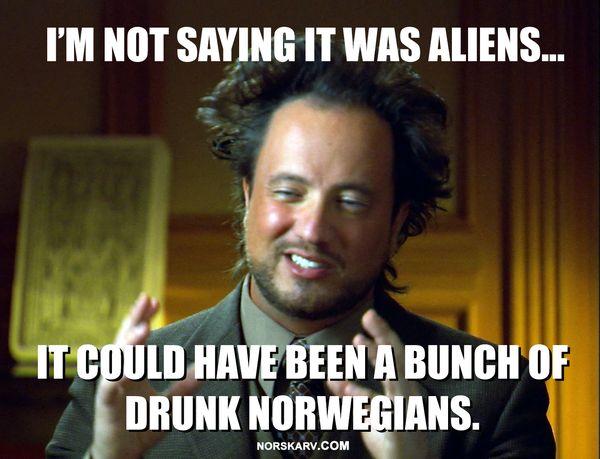 It was aliens meme image