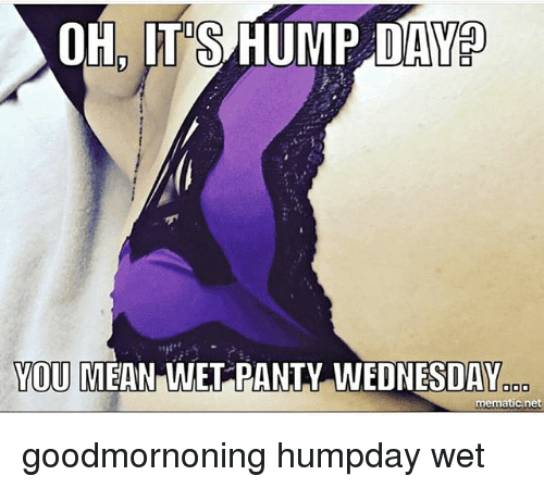 Oh It's Hump Day You Mean Wet Panty Wednesday Goodmorning HumpDay Wet