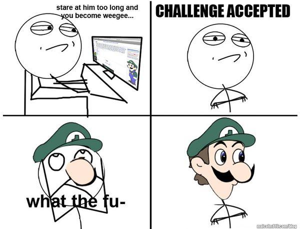 Funny Challenge Accepted Meme Face Joke