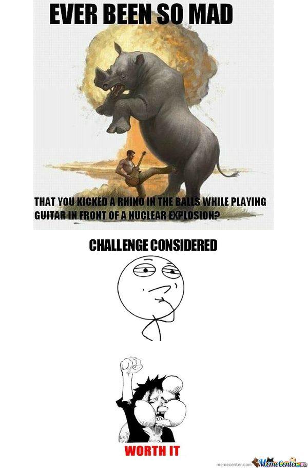 Funny Challenge Considered Meme Photo