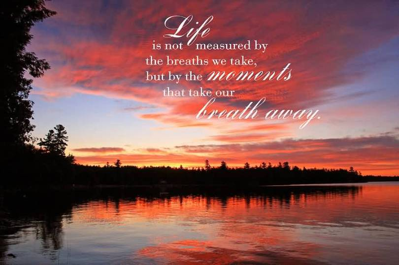 Life Is Not Measured Quote Amazing 20 Life Is Not Measuredthe Breaths Quote Images  Quotesbae