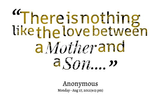 Mother Son Love Quotes Magnificent Mother Son Love Quotes 09  Quotesbae