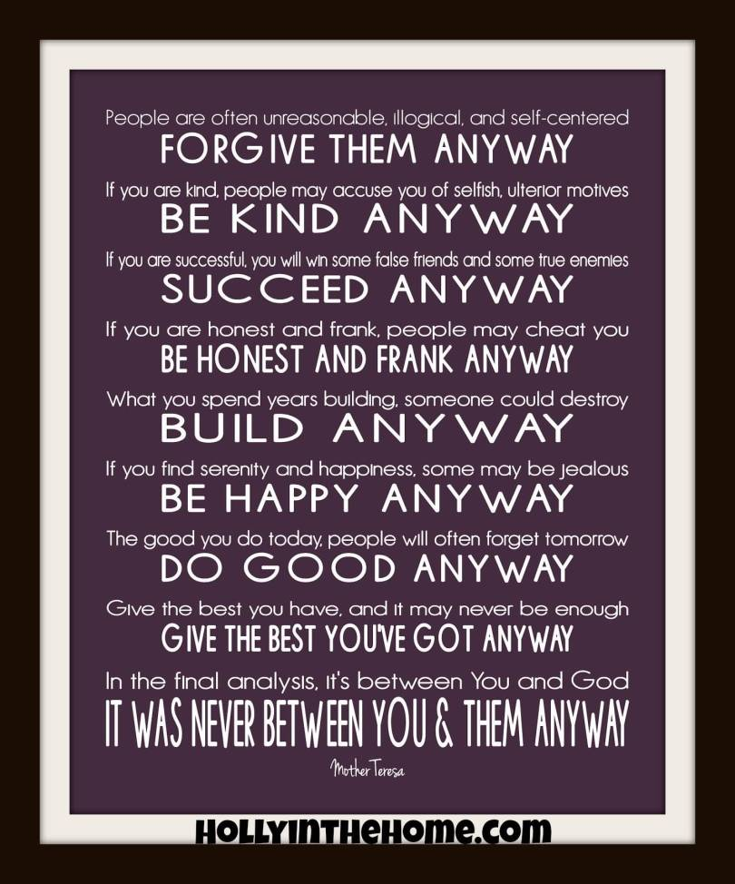 Mother Teresa Quotes Life 20 Mother Teresa Quotes Love Anyway Sayings Images  Quotesbae