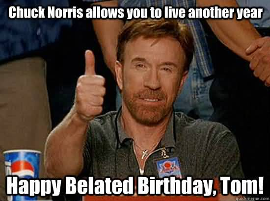 Chuck Norris Happy Birthday Meme Funny Image Photo Joke 07