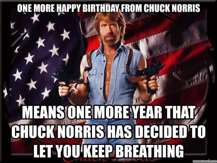 Chuck Norris Happy Birthday Meme Funny Image Photo Joke 13