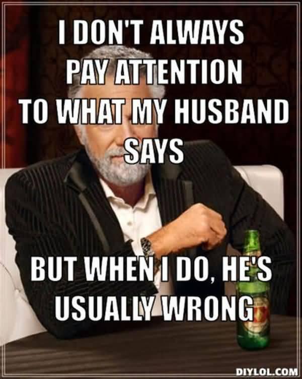 Funniest love my husband meme photo