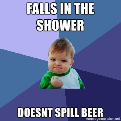 Shower Beer Meme Funny Image Photo Joke 13