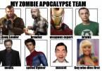 Zombie Apocalypse Team Meme Funny Joke 07