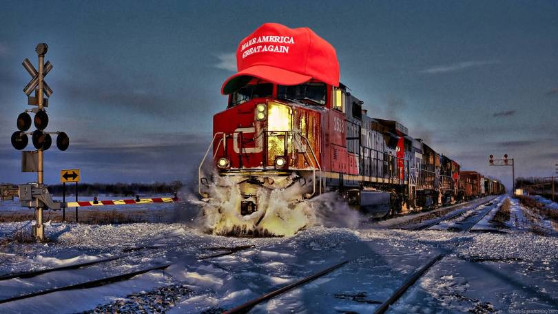 Trump Train Meme Funny Image Photo Joke 14