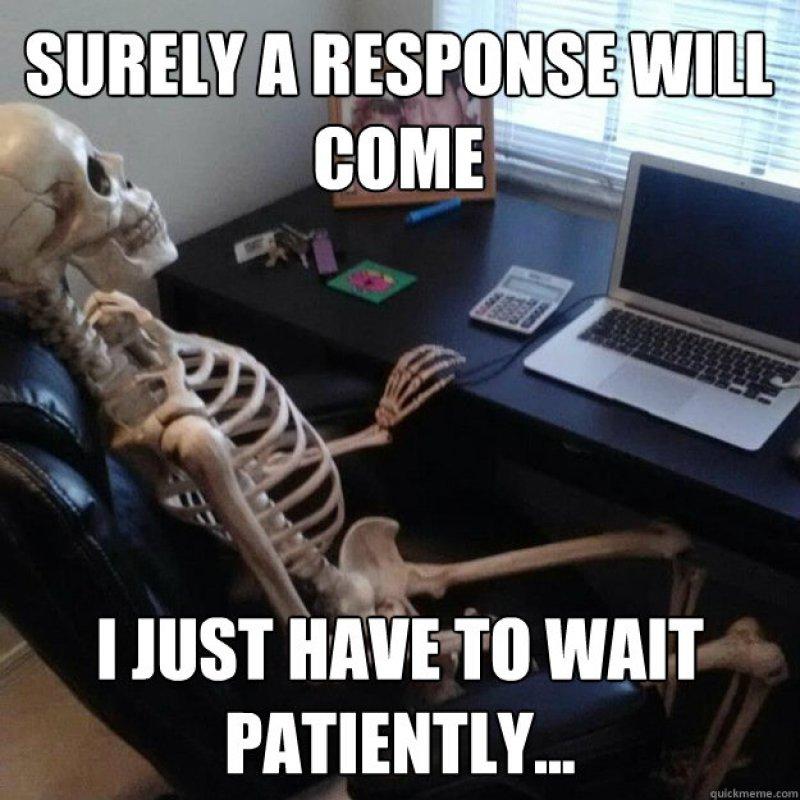 Waiting Skeleton Meme Funny Image Photo Joke 01