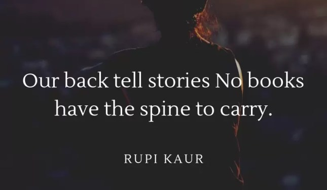 our back tell stories no books have the spine to carry