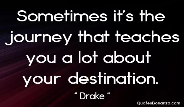 journey & destination quote