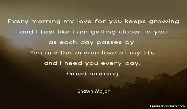 shawn major quote about morning