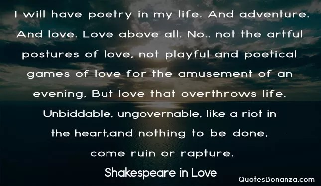 shakespeare in love quote