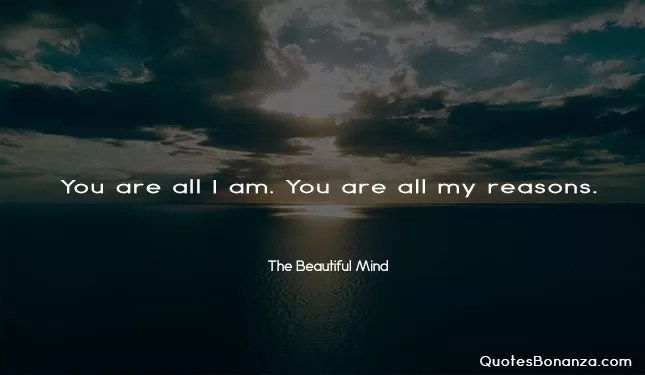 you are all i am. you are all my reasons