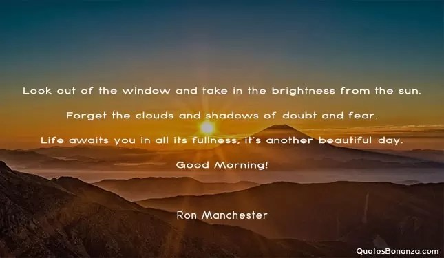 quote for new morning