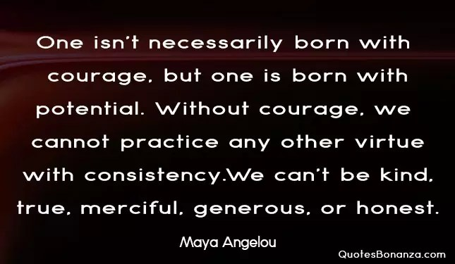 picture quote of maya angelou