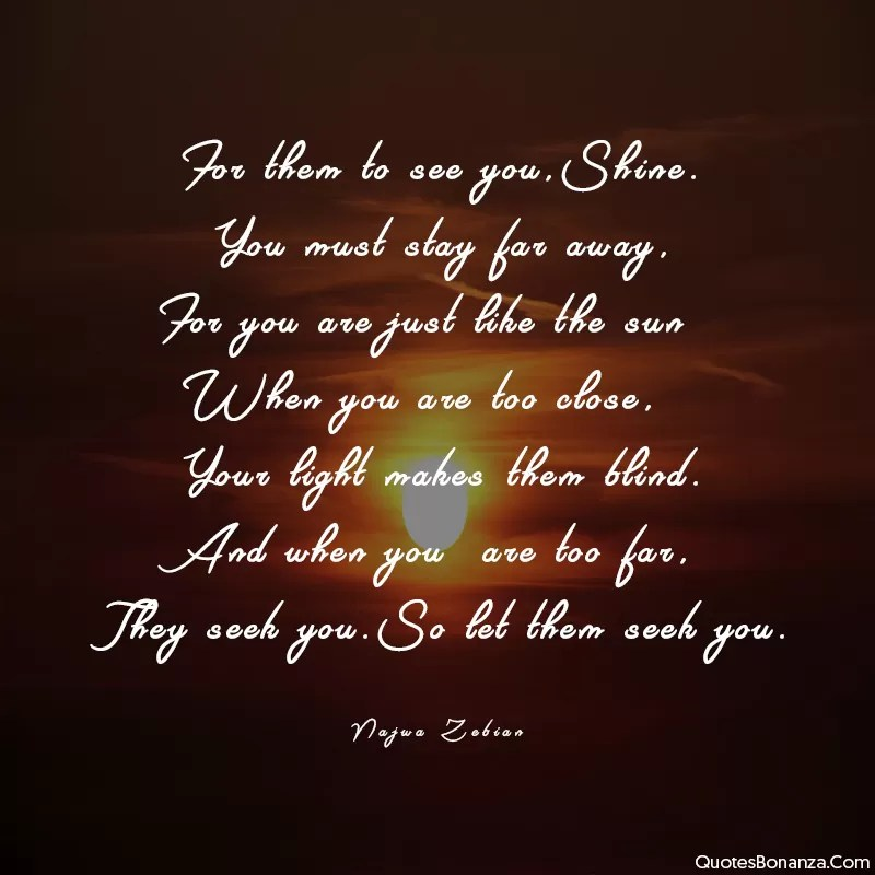 SHINE LIKE SUN QUOTE