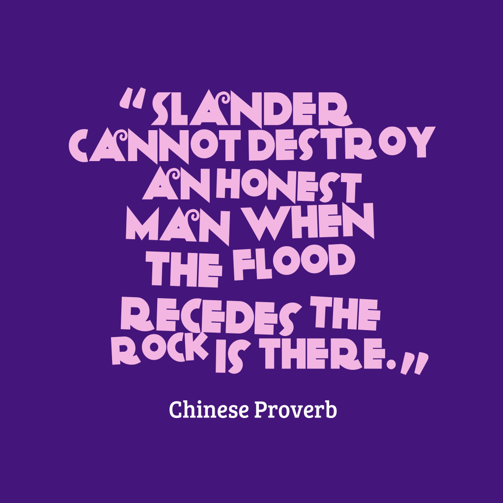 Picture Chinese Proverb About Honesty