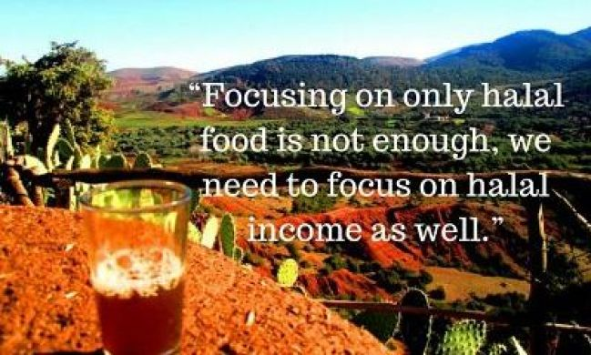 halal quotes on food and income