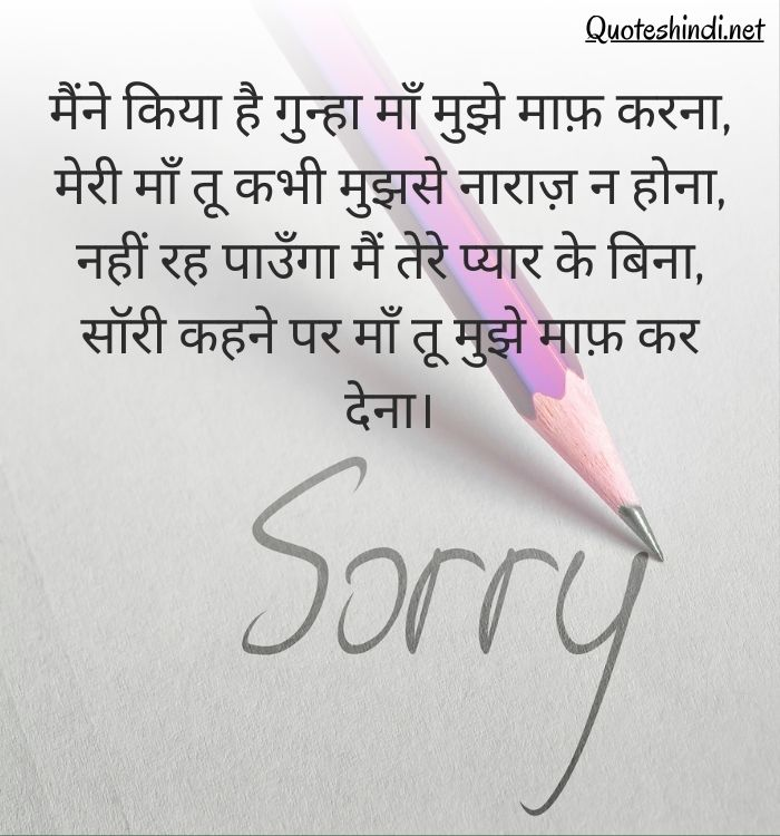 sorry quotes in hindi