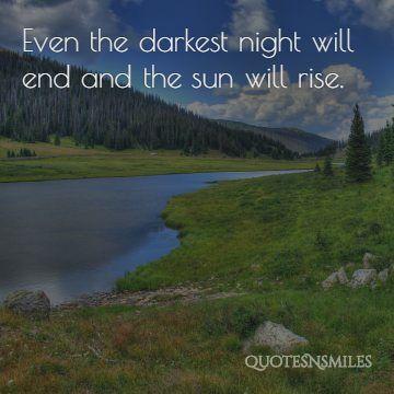 Sun will rise happy quote - picture quote