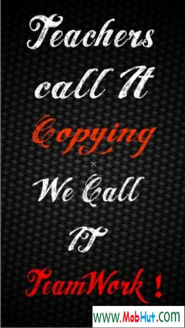 Image of: Caption Teachers Call It Copying We Call It Team Work Attitude Quote Quotespicturescom Teachers Call It Copying We Call It Team Work Attitude Quote