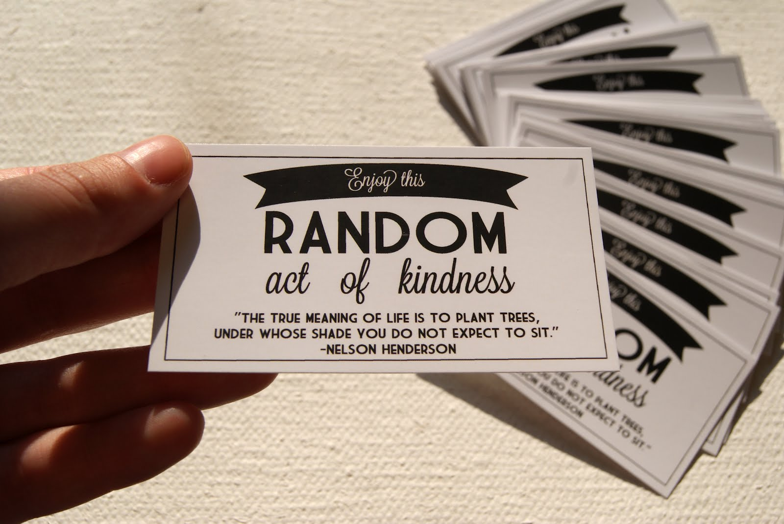 Enjoy This Random Act Of Kindness Kindness Quote