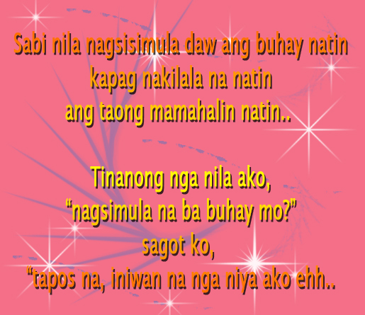 Sweet Tagalog Love Quote