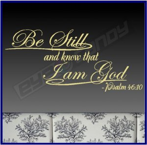 """ Be Still And Know That I Am God "" ~ Religion Quote"