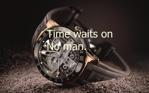 """"""" Time Waits On No Man """" ~ Success Quote"""
