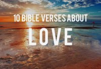 Bible Verses Scriptures About Love